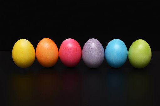 therapy types colourful eggs